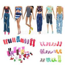 Trendy Doll Clothes for Barbie Doll Dress Up Sandals Shoes Jeans Dress Party Acc