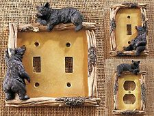 Decorative Rustic Hardware Bear Light Switch or Outlet Plate Country Home Decor