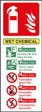 Fire Extinguisher Wet Chemical Signs - plastic & sticker options