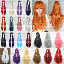 23-40inch Long Cosplay Hair Wig Long Curly Wavy Straight Anime Party Costume alg