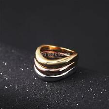 Multicolor Finger Rings Band Ring Alloy Fashion Gold Jewelry Bridal Party