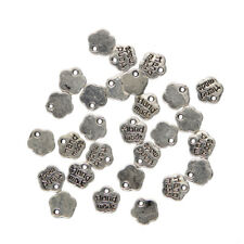 100Pcs Flower Charms Beads Alloy Handmade Jewelry Making Findings Fit Crafts