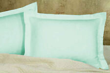 1 Pair Pillow Sham 1000 TC Egyptian Cotton Solid All Size & Color
