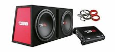 "DS18 BP212 1300W Complete Bass Package with Two 12"" Subs Monoblock Amplifier ..."