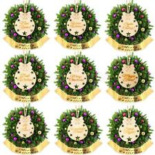 10pcs Greeting Letters Christmas Wooden Pieces Tree Ornaments Gift Favors Tags