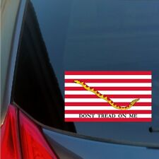 Don't Tread on Me Navy Jack Flag sticker decal American Revolution USA tea party