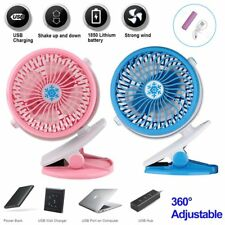 USB Rechargeable Battery Operated Adjustable Portable Clip on Fan Car Stroller