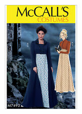 McCall's M7493 MP558 Dress Costume Pattern 6-22 1810s Regency, Pride & Prejudice