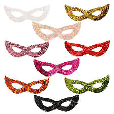 Unisex Sequin Mask Masquerade Cat Eye Face Mask Fancy Dress Hen Party Accessory