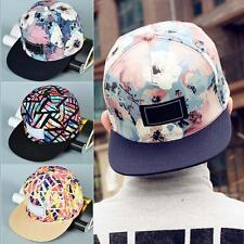 Fashion Men Women's Floral Snapback Bboy Adjustable Baseball Cap Hip Hop Hat ☪Q