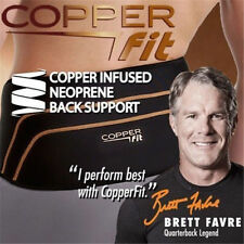 New Copper Fit Back Pro As Seen On TV Compression Lower Lumbar Back Support Belt