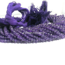 "Natural African Amethyst Gemstone Beads Rondelle Faceted Cut 13"" Strand Beads"