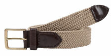 New Dockers Men's Elastic Braided Stretch Belt with Leather Tabs