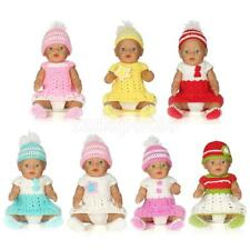 Cute Dolls Knitwear Dress Full Set for 17'' 43cm Zapf Baby Born Doll Accessories