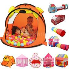 Portable Polyester Playhouse Tunnel Play Tent Kids Indoor Outdoor Toy Activities