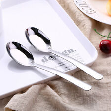 SUS304 Stainless Steel Chinese Large Soup Spoons Flat Table spoon Tableware New