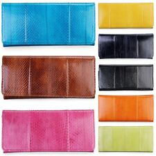 Trifold Wallet Clutch Purse Genuine Sea Snake Skin Leather Womens Lady Stylish