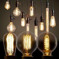 Vintage Industrial Filament Squirrel Cage Antique Style Edison Light Bulbs E27