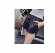 BLACK WOMENS/LADIES HIGH WAISTED  DISCO STYLE SHORTS/HOT WINTER PANTS