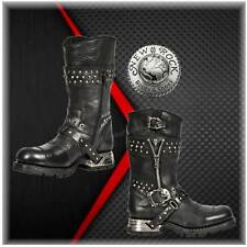 New Rock MR022 - Engineer Boots  Gothic Streetfighter Style Biker Leather Zipper
