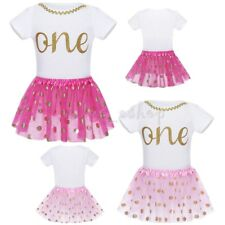 Babys Girls 1st First Birthday Dress Outfits Romper Tutu Skirt Party Costume Set