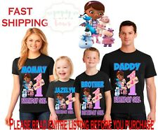 DOC MCSTUFFINS Birthday family Shirts Girl/Boy Dad Mom Brother Theme MCSTUFFIN