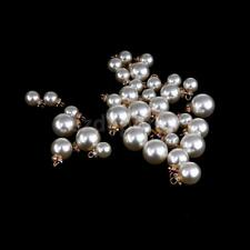 10x Rhinestone Pearl Charms Pendants Jewelry Findings for DIY Necklace 8mm-14mm