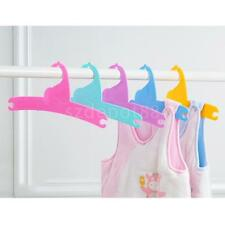 (5 Pcs) Child Baby Kids Wooden Coat Clothes Hangers with Notched Shoulders