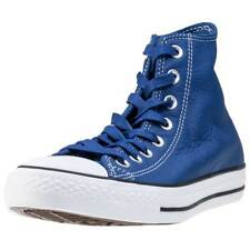 Converse Chuck Taylor All Star Hi Unisex Blue Leather Casual Trainers Lace-up