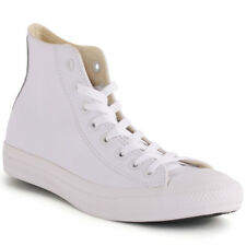 Converse Chuck Taylor All Star High Unisex White Leather Casual Trainers Lace-up