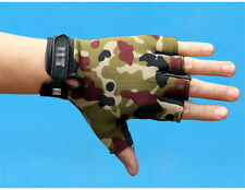 Motorcycle Bike Training Fingerless Gloves Antiskid Tactical Cycling Biker