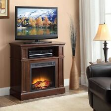 """Electric Fireplace Media TV Stand 42"""" Entertainment Center 400sqft Heater Cherry"""