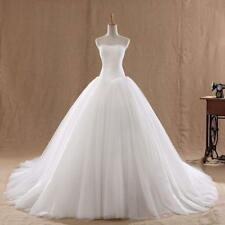 New White Ivory Lace Ball Gown Wedding Dress Bridal Gowns Size 6 8 10 12 14 16 5