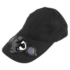 NEW SOLAR SUN POWER FAN AIR CONDITIONED VENTED BASEBALL SPORTS WIDE BRIM CAP HAT