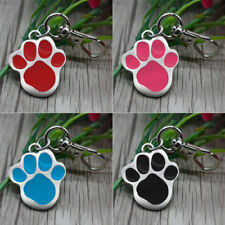 10/20/50 Wholesale Personalized Paw Dog Tag Custom Pet Cat ID Tag Name Engraving