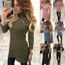 Womens Slim Long T-shirt Bodycon Fashion High-Necked Sexy New Long Sleeve