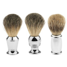 Alloy Handle Wet Shaving Brush Pure Badger Hair Shave Brush Barber Tool