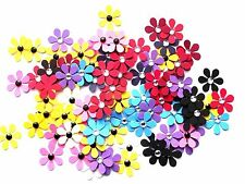 100 x 2.5cm DAISY/. FLOWERS/ die cuts shapes for card making, craft, toppers