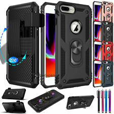 Apple iPhone X 8 7 6s Plus Shockproof Protect Case Heavy Duty Belt Clip Holster