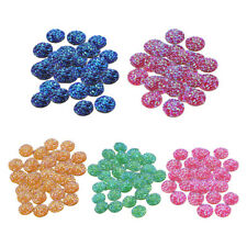 50x Resin Cabochon Flatback Embellishment for Scrapbooking Jewelry Making 12mm