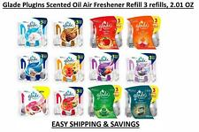 Glade Plug Ins Scented Oil Air Freshener Refill Pack of 3 Many Opt EASY SHIPPING