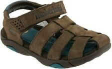TIMBERLAND Brown Nubuck Oyster River Fisherman Sandals NIB Boys Size 4y