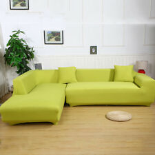 NEW MICRO SUEDE SLIPCOVER SOFA LOVESEAT CHAIR FURNITURE COUCH COVER, GRASS GREEN