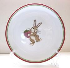 EUC WORLD MARKET EASTER BUNNY W/ STRAWBERRY SALAD PLATE 7 7/8 INCHES
