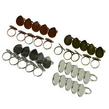 10pcs Blank Adjustable Ring Base Cabochon Settings Tray DIY Jewelry Making