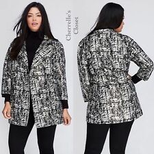 NWT Lane Bryant Metallic Jacquard Jacket Lined Plus Size 18/20 22/24 26/28