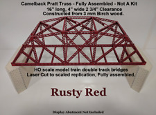 Model Railroad Bridges and Trestles-Camelback Pratt-Truss - Fully Assembled