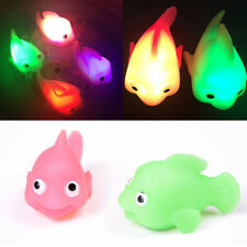 Hot Waterproof In Tub Bath Time Fun Bathroom LED Light Kids Toys Water Induction