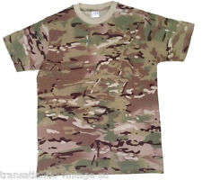 MTP MULTICAM T-SHIRT BRITISH ARMY ISSUE CAMOUFLAGE US MILITARY CAMO CADET SAS