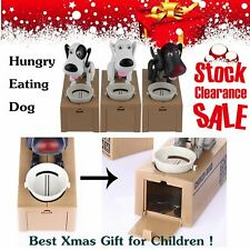 Puppy Hungry Eating Dog Coin Bank Money Saving Box Piggy Bank Kids Gifts SD